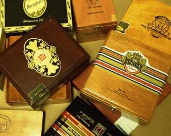 5 pc Wooden Cigar box Lot - macanudo, romeo & juliet, cohiba, fuente, brickhouse, ashton