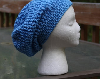 The Sparrow Slouchy Beanie in Clear Blue - Ready to Ship