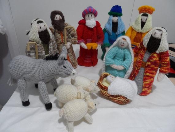 Knitting Pattern Nativity Stable : Nativity Set Nativity Scene Knitted Christmas by Fiberartplus