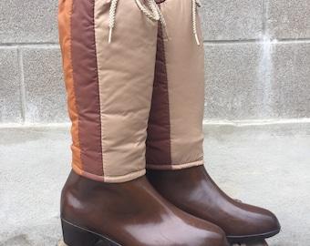 1980s Andrew Geller rain boots with waterproof down