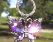 LAVENDER BUTTERFLY Tree Jewelry Christmas Ornament Cross Lamp Jewelry Purple