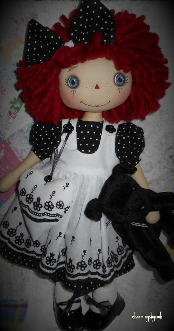 E Pattern 16 Inch Raggedy Annie Cloth Doll