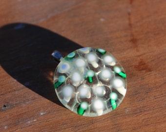 Filigrana Fused Glass Pendant