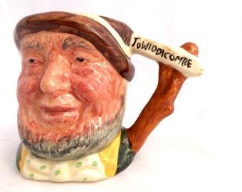 Vintage Character Mug Small Lancaster Sandland Characterware Uncle Tom Cobleigh Hand Painted Collectible Mug 2.5 Inches