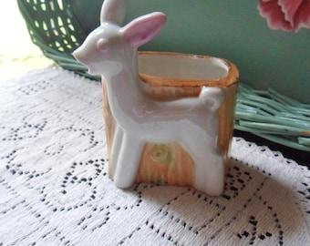 Small Deer Planter, Miniature Baby's Nursery Planter