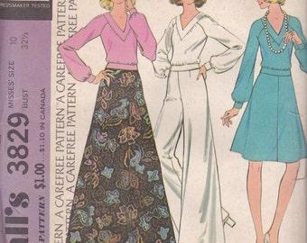 Maxi, Midi Skirt, Palazzo Pants & Shirt Pattern McCalls 3829 Sie 10