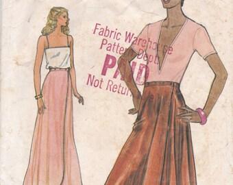 Double Wrap Skirt Pattern Vogue 7375 Size 12 Waist 26 1/2
