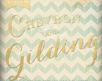Etsy Banner Cover Set - 20 Piece Gold Chevron DIY Template Editable Shop Banner Template Set - Etsy Cover Etsy Shop Set Banner Etsy Gilded
