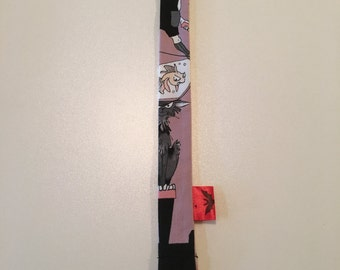 Mauve Ghastlies Binky Leash - Pacifier Clip - Pacifier Leash - Pacifier Clip - Baby Bink Link - Baby or Infant Pacifier Leash