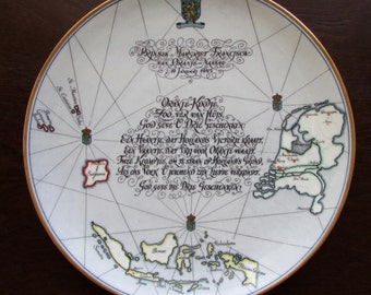 Netherlands Aid Society Commemorative Plate Birth of Princess Margriet of Netherlands 1943 Scammell's Lamberton China