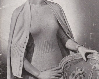 Vintage 1940s - STYLE  Patons Knits for Women  Style - Vintage Knitting  Book No 15
