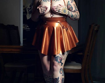 Latex Circle Skater Skirt