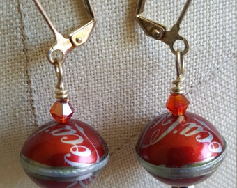 Coca Cola Bottlecap Earrings