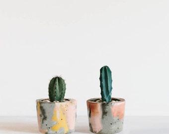 Coloured Concrete Planter / Candle Holder / Concrete Pot