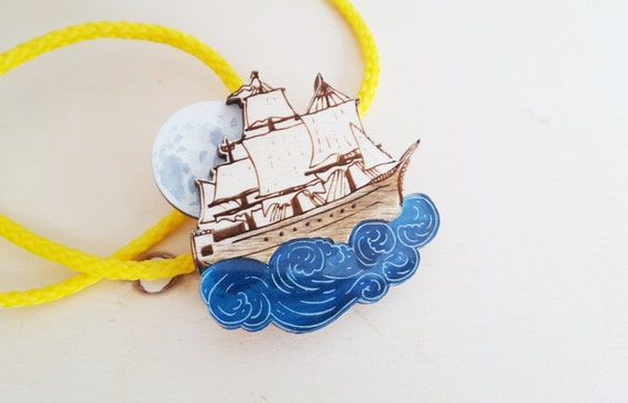 Broche de navire Pirate au clair de lune