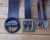 Custom Leather Belts, Medieval, Renaissance, Pirate, Viking - Choose Your Size, Color & Buckle -