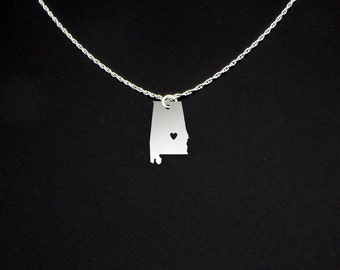 Alabama Necklace - Alabama Jewelry - Alabama Gift