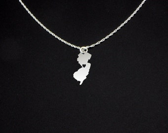 New Jersey Necklace - New Jersey Jewelry - New Jersey Gift