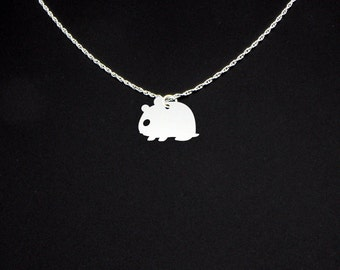 Hamster Necklace - Sterling Silver