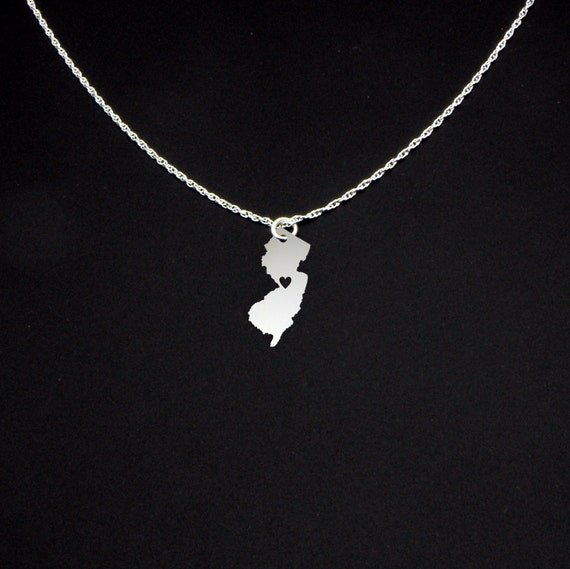 new jersey necklace new jersey jewelry new jersey gift