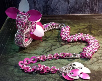 Dragon Mix and Match - Hot Pink and Silver