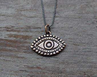 Bronze Visionary Eye pendant