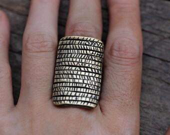 Brass Marked ring