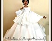 Black Nurse Doll, African American Ode to Black Nurses, Porcelain OOAK Handmade Nurse Doll