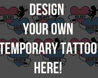 Temporary Tattoos- A5 Sheet Full Of Custom Temporary Tattoos. Send us your own design!!