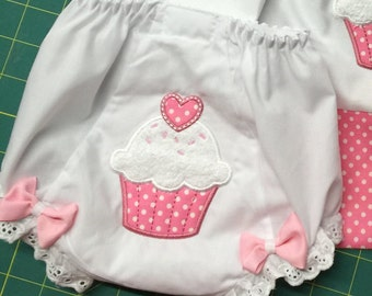 Cupcake Bloomers *Diaper Cover*