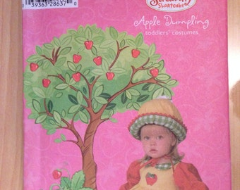 Simplicity 4773 Sewing Pattern Toddler Costume Strawberry Shortcake Apple Dumpling Size 1/2-4