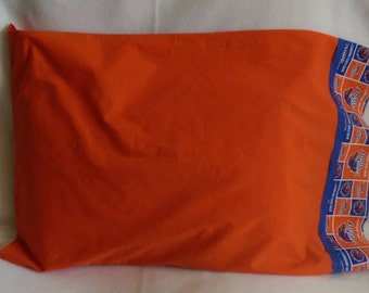 Standard Size Pillowcase - BSU - Boise State University - Blue and Orange - Bronco, Squares