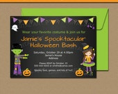 HALLOWEEN Party Invitation - Halloween Costume Party Invitation - Kids Halloween Invite Spooktacular Party - Halloween Birthday Invite HCBK