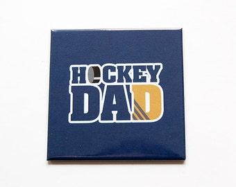 Hockey Dad Magnet, Fridge magnet, Kitchen Magnet, Magnet, Stocking Stuffer, Hockey magnet, Gift for dad, Fathers Day Gift, Blue (5452)