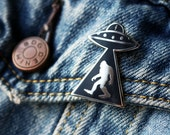 Outerspace Enamel Pin - Sasquatch Alien Pin
