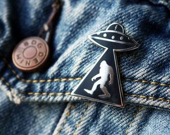 Outerspace Enamel Pin - Sasquatch Alien Pin