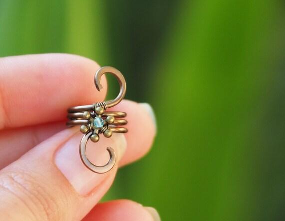 Wire Dread Bead/cuff Gemstone dread hair jewelry/accessories jewelry for braids Dreadlocks Rasta Hippie/Viking hair