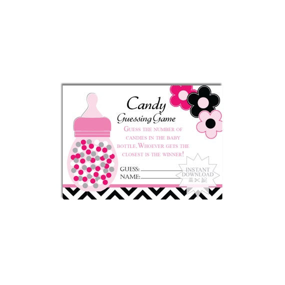 Candy Baby Shower Game: Bottle Candy Guessing Game-Baby Shower Games-How Many Baby