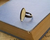 4 pcs Adjustable Filigree Bronze Oval Setting Ring (Fits approx 25 x 18mm)  (BF2752)