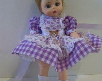 lavender bear Madame alexander doll 8 in