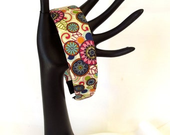 Satin Fabric Hair Accessory - Mod Style Headband - Wide Headband - Boho Hair Fashion