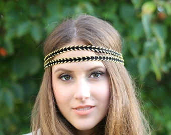 Black and Gold Hippie Head bands