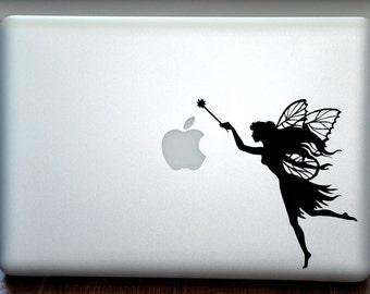 Dazzling Twinkle Fairy Girl Macbook Vinyl Sticker Decal Mac Apple Laptop iPad