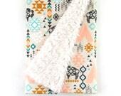 Baby Blanket Southwest Buffalo. The Cloud Blanket. Lovey. Faux Fur Baby Blanket. Minky Baby Blanket. Buffalo Baby Blanket.