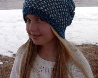 Crochet Honeycomb Reversable Slouch Hat Pattern - Instant Download