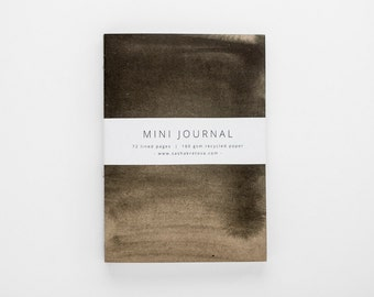 TERRAIN VI mini journal A6 with lined pages