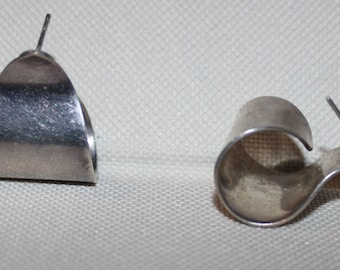 Sterling Silver Earrings Taxco Signed