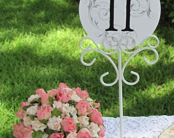 Wedding Table Number Holders or Stationery Photo Holders Set of 12 White Reception Table Number Holders