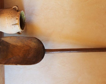 Antique Wood Grain Flour Shovel/ Spade 1900's / Primitive French /Antique French country