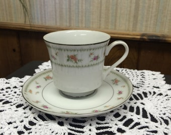 Vintage Abingdon China Cup and Saucer Set